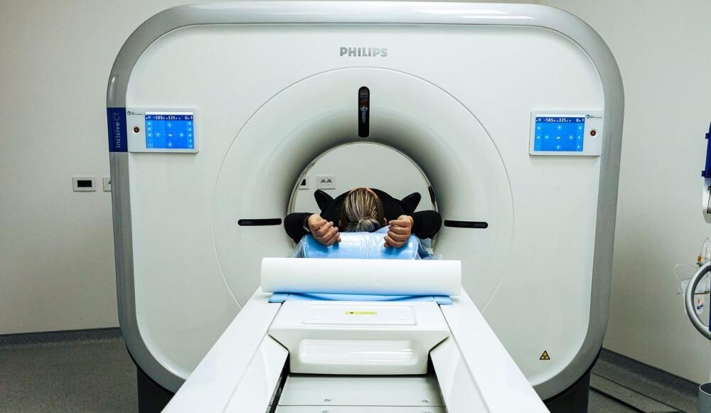 Patient in CT Scanner