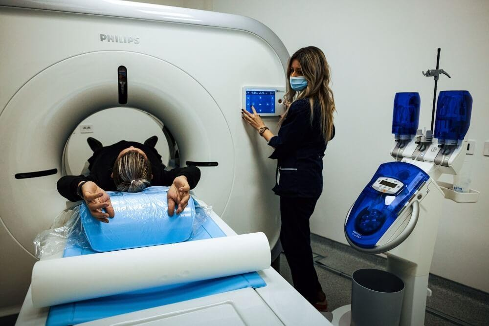 Patient Going Through a CT Scan
